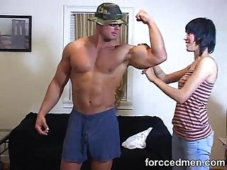 Mistress took man s clothes off to see his muscular body