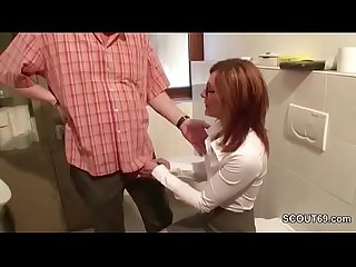 German Redhead MILF Seduce to Fuck At Work by Stranger