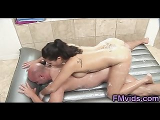 Sexy london keyes soapy masage