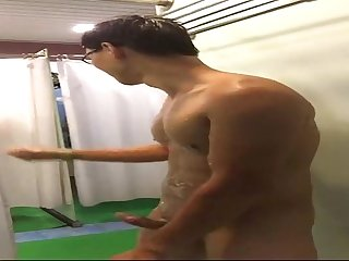 Asian Boy Jerk In Public Bathroom