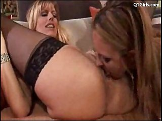 Lesbian teacher takes advantage