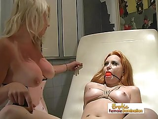 Merciless mistress tortured by her angry slaves