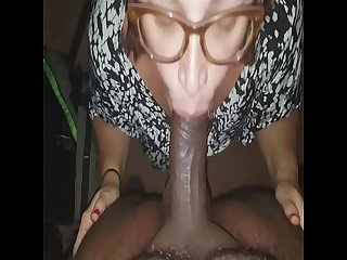 Sucking dick before work