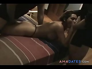 Hot milf homemade gangbang with strangers