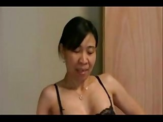 Asianwife cuckolds white guy
