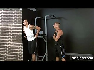 Two guys working out end out sucking by nicejocks