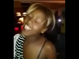 Nude African girls having fun at club