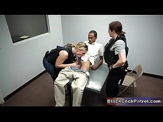 Black Pervert Fucked By Corrupt Female Cops In Prostitution Sting