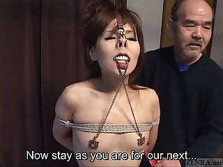 Subtitled cmnf japanese bdsm nose hooks and more