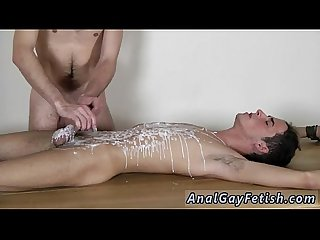 Twink ass fucking tube Brit twink Oli Jay is strapped down to the