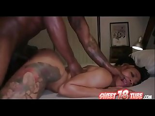 2 guys fuck the shit out of a ebony girl