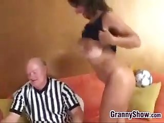 Hot and busty granny wants some cock