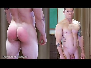 Straight Muscle Boy Spanked Hard by a Gay Man