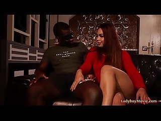 Black Guy Fucks Bareback Ladyboy Nancy