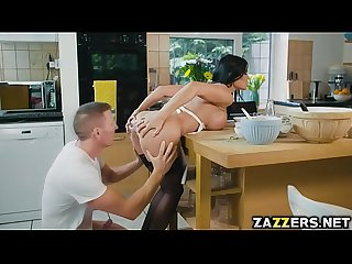 Slutty chef jasmine jae s banging on the kitchen table