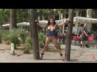 Girl fucked in public