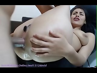 Anal fucking and several squirts of pleasure on webcam