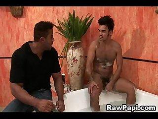 Gay Latino buff gets ass fucked