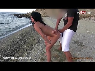 My Dirty Hobby - Hot MILF fucked on public beach