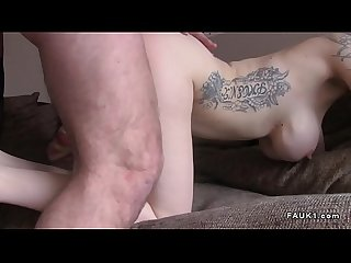 Two blondes banging agent at casting