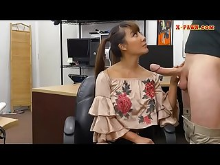 Busty Asian woman nailed at the pawnshop
