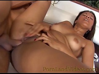 latina brunette and big dick in her ass for hot anal sex action