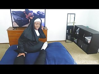 Another Corny ASF BBW Nun Roleplay Equipped With Dick Riding Action! | Clip