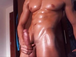Hot muscle cumshot