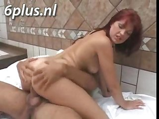 red haired milf getting fucked in the ass