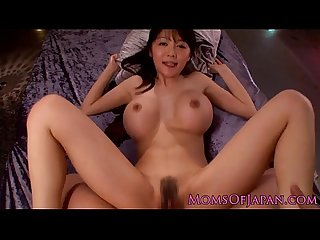 Busty japanese chick pressed and fucked by her boyfriend