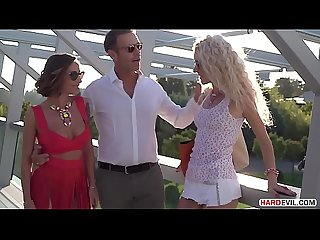 Rich Playboy Vinny Star Plays with Amazing Monique Woods and Malena