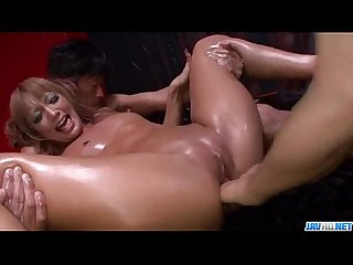 Kyoko chokes with two cocks in dirty threesome - More at Javhd.net