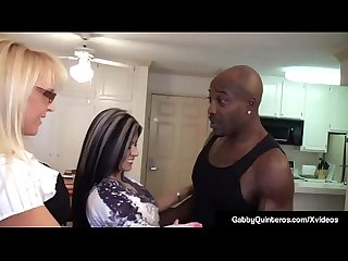 MexiMilf Gabby Quinteros & Alexis Golden Fuck Big Black Cock
