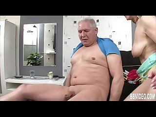 German milf gets tits jizzed
