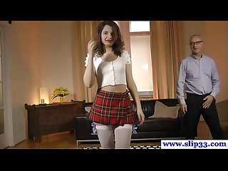 Euro amateur pussyfucked by old man