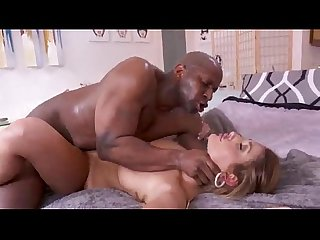 White girl in red bikini fucked hard by black dick