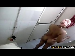 Indian Aunty Being Watched By A Voyeur