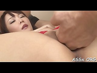 Asian muff shaving and wild anal