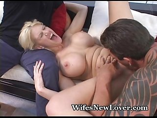Hubby gives up asks friend to fuck wife