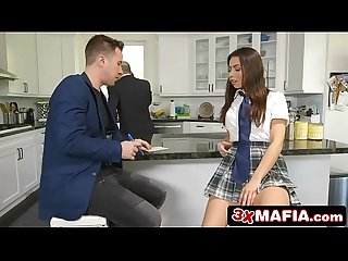 Horny school girl Melissa moore fucking the house appraiser