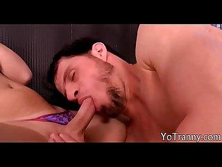Big tits tgirl Carol Penelope ass rammed