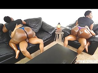 Big Ebony BBW Booty Cowgirl Compilation | 1 Year of Darkwetdreemz