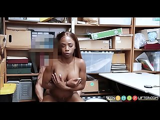 Tiny Black Teen With Big Tits Caught Stealing Money