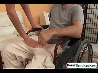 Olah zsofia fucks an amputee in a wheelchair