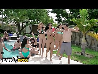 Bangbros fuck team five poolside orgy with rose monroe krissy lynn and valentina jewels