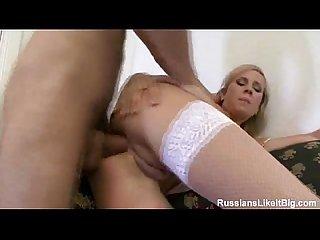Blonde slammed hard in the ass