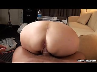 Old granny fucks young cock pov