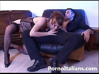 Pompino E sesso anale in porno italiano blowjob hardcore anal sex in italian