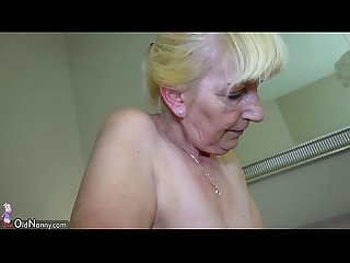 Oldnanny old mature and horny Teen masturbate