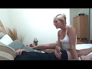 Blonde stepsister helps her brother with his viagra problem